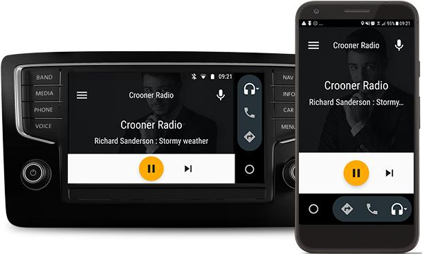 application android auto radio
