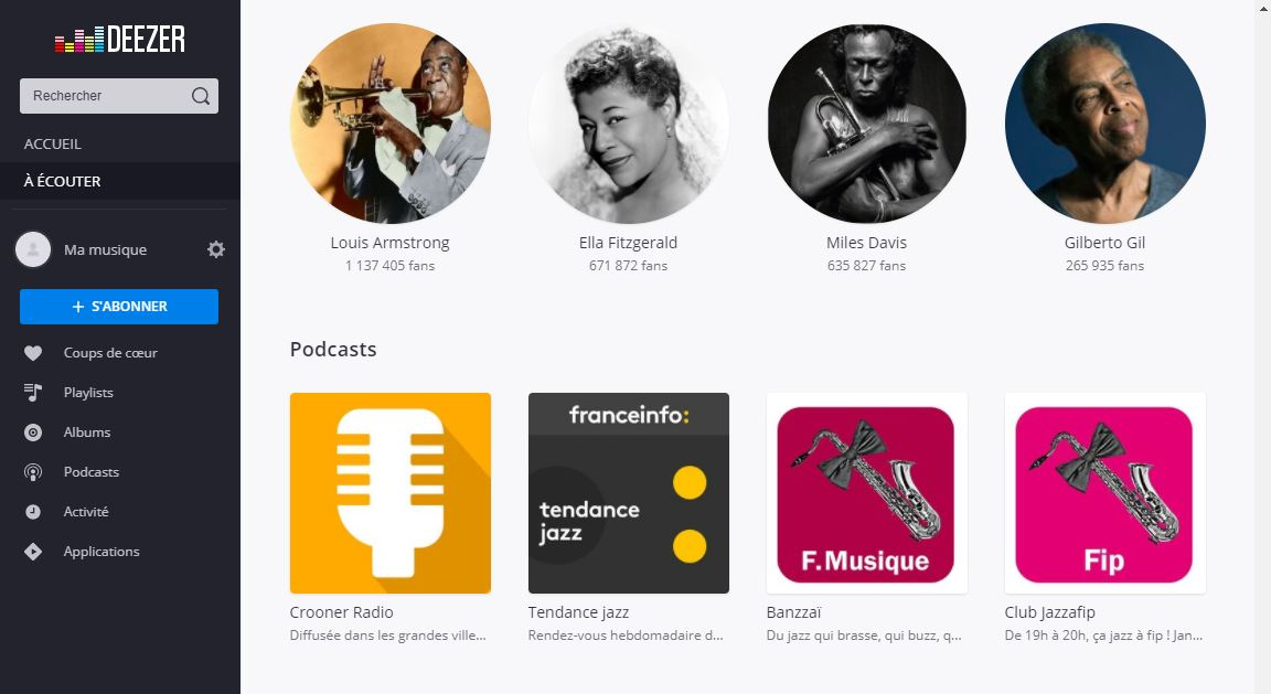 podcast deezer radio crooner entertainment