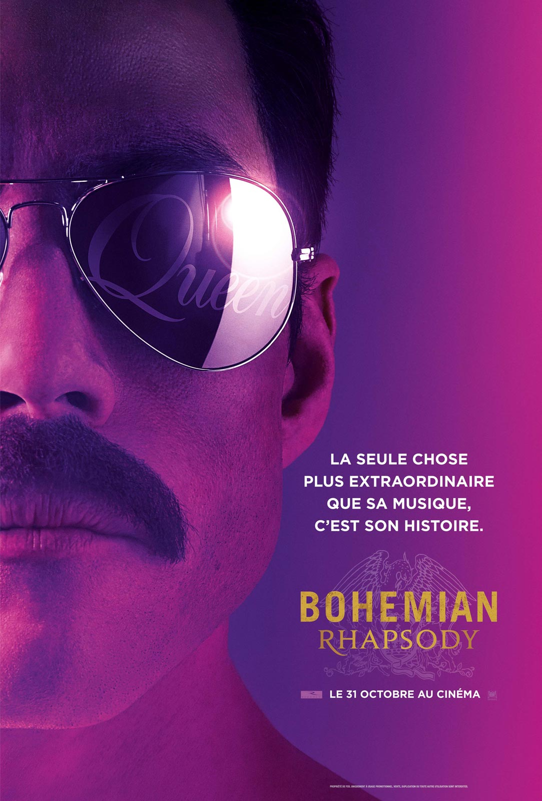 Bohemian Rhapsody Queen affiche cinema