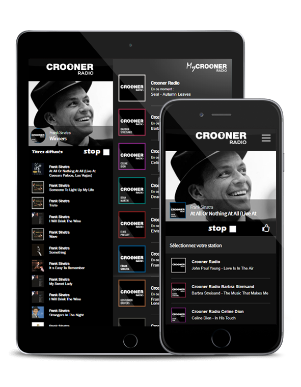 L'application Crooner Radio
